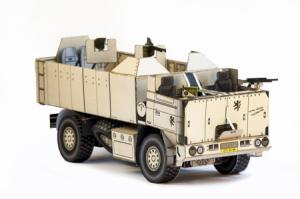 Papercraft del vehículo militar Tatra SOT. Manualidades a Raudales.