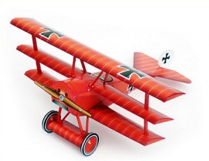 Papercraft recortable del Avión Fokker_dr_1. Manualidades a Raudales.
