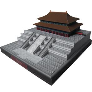 Papercraft building imprimible y armable de la Ciudad Prohibida. Manualidades a Raudales.