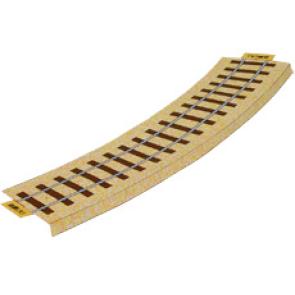 Papercraft de la Vía férrea (curva grande) / Railroad (curved large). Manualidades a Raudales.