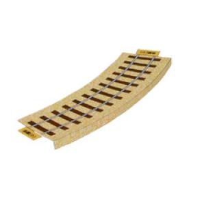 Papercraft de la Vía férrea (curva pequeña) / Railroad (curved small). Manualidades a Raudales.