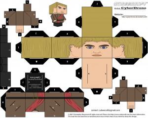 Cubeecraft de  Joffrey Baratheon de Juego de Tronos.
