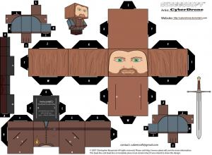 Cubeecraft de Ned Stark de Juego de Tronos.