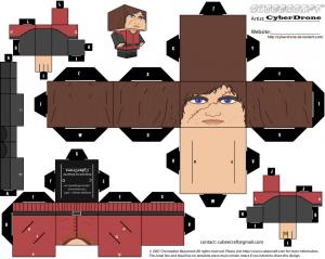 Cubeecraft de Tyrion Lannister de Juego de Tronos.