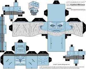 Cubeecraft White Walker de Juego de Tronos.