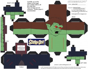 Scooby Doo - Monstruo. Manualidades aRaudales.