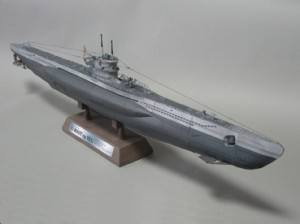 Papercraft imprimible y armable del Submarino tipo VII C. Manualidades a Raudales.