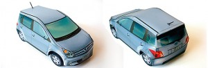 Papercraft imprimible y armable del Toyota Ist. Manualidades a Raudales.
