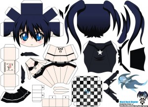 Papercraft de Anime - Black Rock Shooter 2. Manualidades a Raudales.