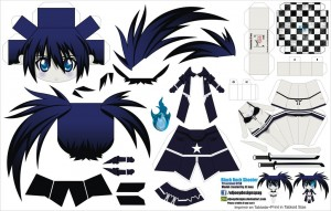 Papercraft de Anime - Black Rock Shooter. Manualidades a Raudales.