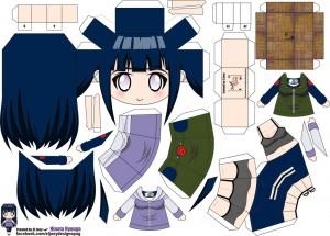 Papercraft Anime - Hinata. Manualidades a Raudales.