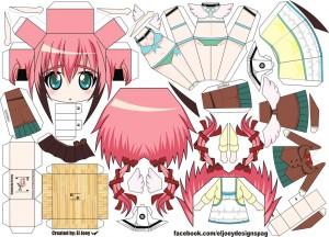 Papercraft Anime - Ikaros. Manualidades a Raudales.