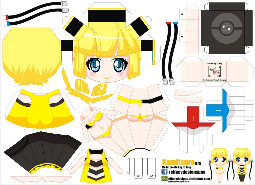 Papercraft Anime Kamitsure Manualidades A Raudales