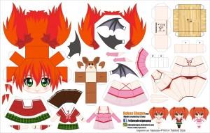 Papercraft Anime - Kokoa Shuzen. Manualidades a Raudales.