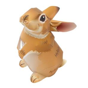 Papercraft de un Conejo Mini rex. Manualidades a Raudales.