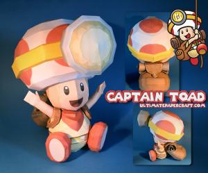 Papercraft del Capitán Toad - Nintendo.