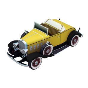 Papercraft del Chevrolet deluxe sport. Manualidades a Raudales.