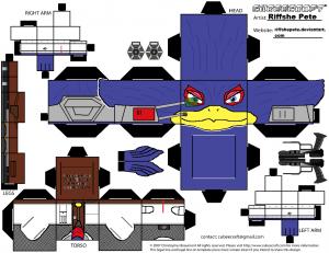 Cubeecraft de Falco Lombardi de Nintendo. Manualidades a Raudales.