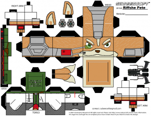 Cubeecraft de Fox Mccloud de Nintendo