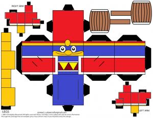 Cubeecraft del King Dedede de Nintendo. Manualidades a Raudales.