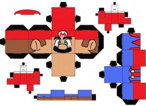 Cubeecraft de Super Mario  de Nintendo. Manualidades a Raudales.