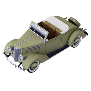 Papercraft del Ford cabriolet. Manualidades a Raudales.