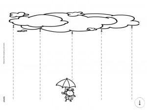 Grafomotricidad de líneas verticales. Manualidades a Raudales.