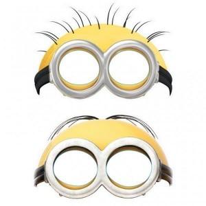 Máscara de los Minions. Manualidades a Raudales.