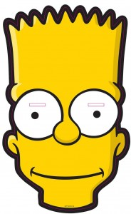 Mascara de Bart. Manualidades a Raudales.
