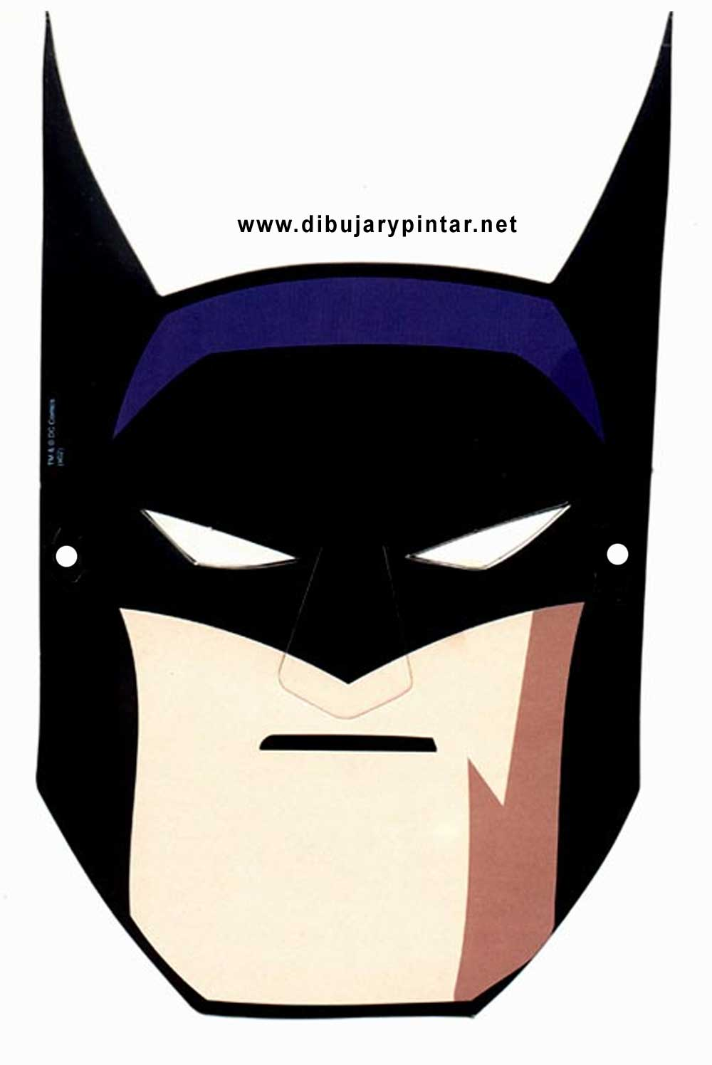 Mascara de Batman 4. - Manualidades a Raudales
