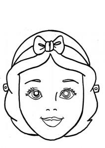 Mascara de Blancanieves. Manualidades a Raudales.