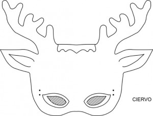 Máscara Ciervo. Manualidades a Raudales.
