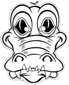 Máscara Cocodrilo. Manualidades a Raudales.