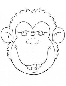 Máscara de Gorila. Manualidades a Raudales.