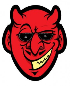 Máscara Halloween diablo. Manualidades a Raudales.