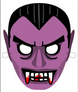 Máscara Halloween drácula. Manualidades a Raudales.