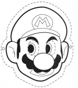 Careta de de Mario Bros. Manualidades a Raudales.