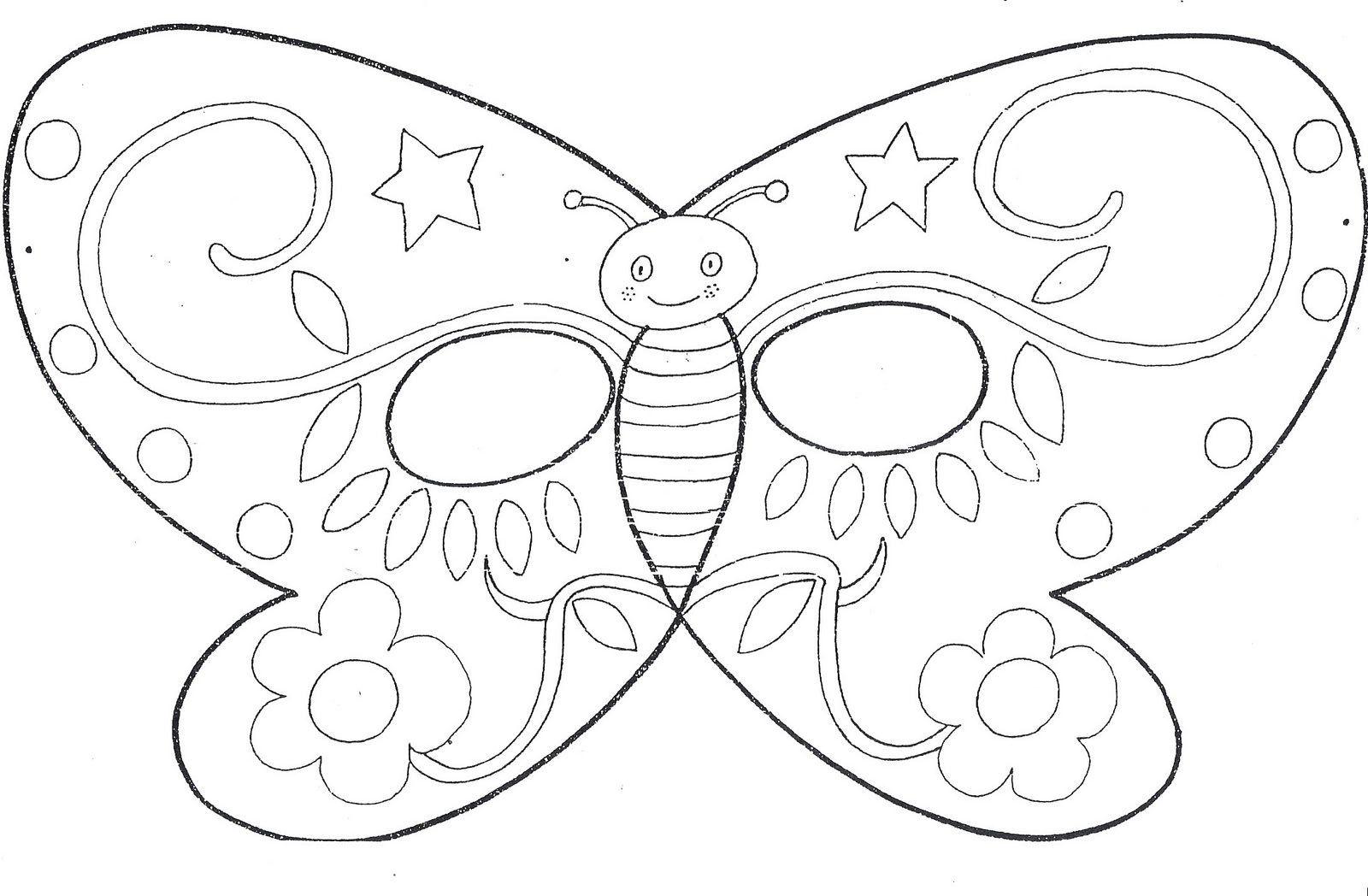 Máscara Mariposa. - Manualidades a Raudales