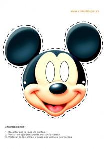 Careta de de Mickey de Disney. Manualidades a Raudales.