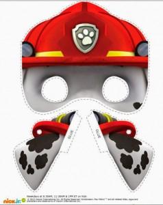Máscara de la Patrulla Canina de Marshall. Manualidades a Raudales.