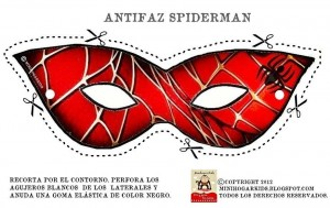 Careta de Spiderman. Manualidades a Raudales.