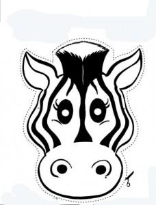 Mascara burro. Manualidades a Raudales.