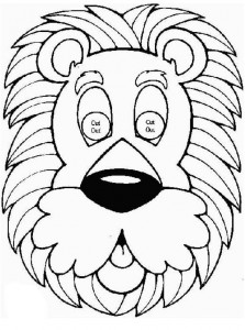 Máscara de león. Manualidades a Raudales.