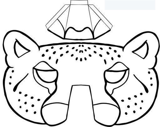Dibujo De Pantera Pantera Colorear Dibujos Top Como: Mascaras De Leopardos Para Colorear