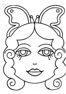 Máscara de una niña. Manualidades a Raudales.