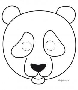Máscara oso panda. Manualidades a Raudales.
