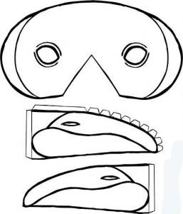 Máscara pico pato. Manualidades a Raudales.