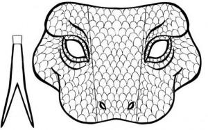 Máscara serpiente. Manualidades a Raudales.