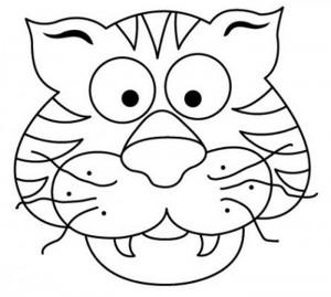 Máscara tigre. Manualidades a Raudales.