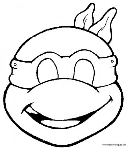 Mascara de una tortuga ninja. Manualidades a Raudales.